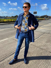 Load image into Gallery viewer, MishMash Blue Slim Fit Jeans styled by Shane Burke at StylishGuy Menswear