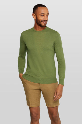 Van Gils Green Merino Wool Jumper