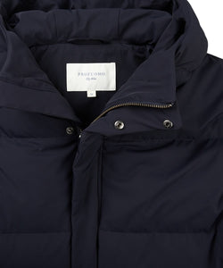 Navy Down Filled Parka Coat from Profuomo at StylishGuy Menswear