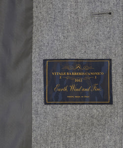 Grey Water-Repellent Wool Mac from Profuomo Outerwear Collection at StylishGuy Menswear (Inside)