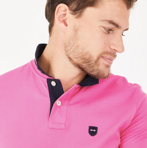 Eden Park Dark Pink Pima Cotton Piqué Polo