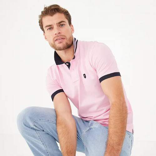 Eden Park Light Pink Pima Cotton Piqué Polo