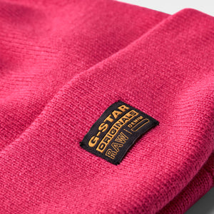 Pink Effo Knitted Beanie Hat from G-Star RAW at StylishGuy Menswear Dublin