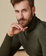 Load image into Gallery viewer, Green Merino Roll-Neck Knit Jumper from Profuomo at StylishGuy Menswear