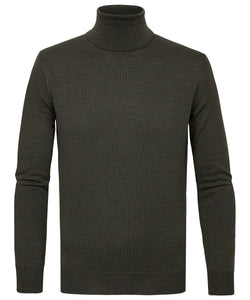Green Merino Roll-Neck Knit Jumper from Profuomo at StylishGuy Menswear