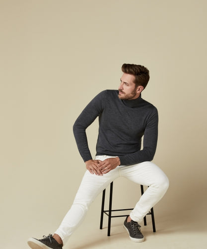 Men's Grey Polo-Neck Jumper from Profuomo at StylishGuy Menswear Dublin Boutique