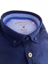 Load image into Gallery viewer, Navy Oxford Shirt from PureShirt at StylishGuy Menswear