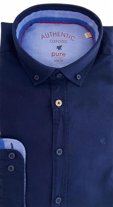 Navy Oxford Shirt from PureShirt at StylishGuy Menswear