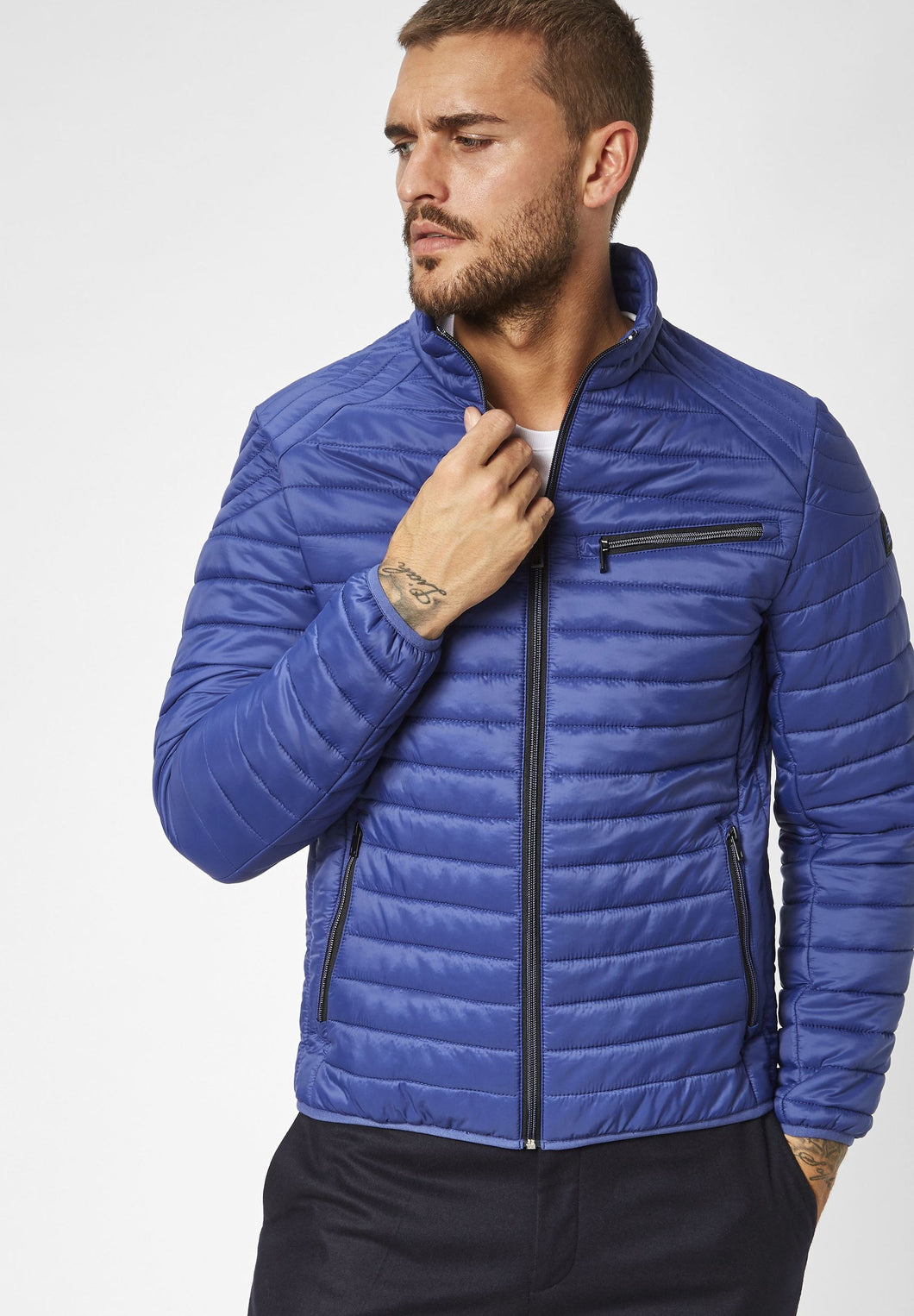 S4 Lightweight Blue Quilted Jacket for Outerwear at StylishGuy Menswear