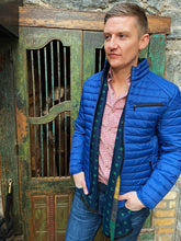 Load image into Gallery viewer, S4 Lightweight Blue Quilted Jacket for Outerwear, Styled by Shane Burke, at StylishGuy Menswear