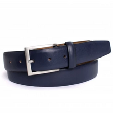 Load image into Gallery viewer, Navy Leather Belt