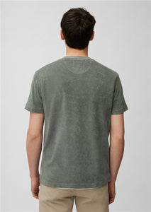Marc O'Polo Fossil Green Soft Terry T-Shirt