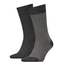 Load image into Gallery viewer, Tommy Hilfiger Dark Grey Thin Striped Sock at StylishGuy Menswear