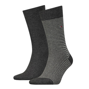 Tommy Hilfiger Dark Grey Thin Striped Sock at StylishGuy Menswear