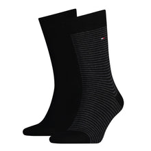 Load image into Gallery viewer, Tommy Hilfiger Black Thin Striped Sock at StylishGuy Menswear