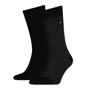 Tommy Hilfiger Black Thin Striped Sock at StylishGuy Menswear