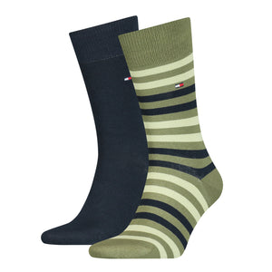 Tommy Hilfiger Olive Thick Striped Sock at StylishGuy Menswear