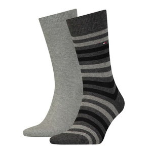 Tommy Hilfiger Grey Thick Striped Sock at StylishGuy Menswear