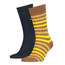 Load image into Gallery viewer, Tommy Hilfiger Highland Khaki Thick Striped Sock at StylishGuy Menswear