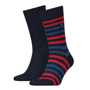 Tommy Hilfiger Blue and Red Thick Striped Sock at StylishGuy Menswear