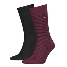 Load image into Gallery viewer, Tommy Hilfiger Wine Thin Striped Sock at StylishGuy Menswear