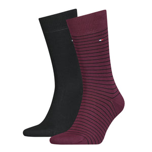 Tommy Hilfiger Wine Thin Striped Sock at StylishGuy Menswear