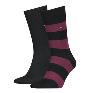 Block Stripe Socks (2 Pack)