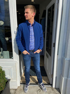 Van Gils Blue Bomber Jacket at StylishGuy Menswear Styled by Shane Burke