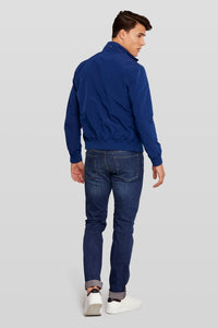 Van Gils Blue Bomber Jacket at StylishGuy Menswear Back View