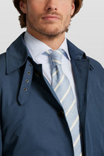 Load image into Gallery viewer, Van Gils Blue Mac Jacket at StylishGuy Menswear Close Up Collar