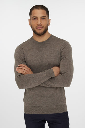 Van Gils Taupe Round-Neck Pullover Knit at StylishGuy Menswear