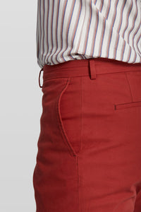Van Gils Dark Red Cotton Shorts