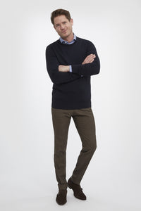 Van Gils Navy Basic Pullover Knit at StylishGuy Menswear Model