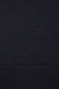 Van Gils Navy Basic Pullover Knit at StylishGuy Menswear Close Up