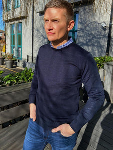 Styled by Shane Van Gils Navy Basic Pullover Knit from StylishGuy Menswear