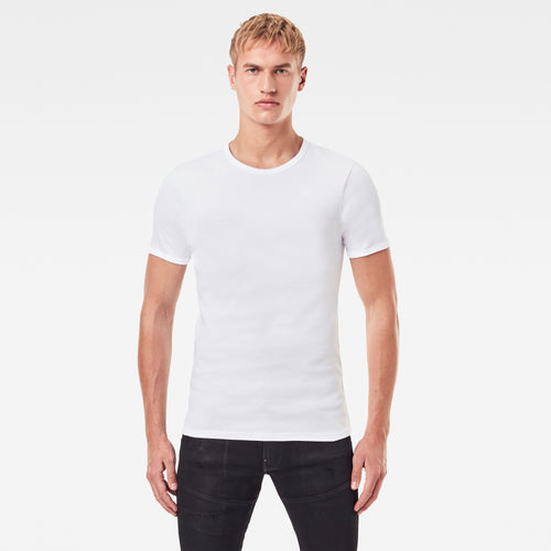 White Cotton Round Neck T-Shirts from G STAR Ireland at StylishGuy Menswear