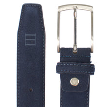 Load image into Gallery viewer, Tresanti Navy Suede Belt at StylishGuy Menswear