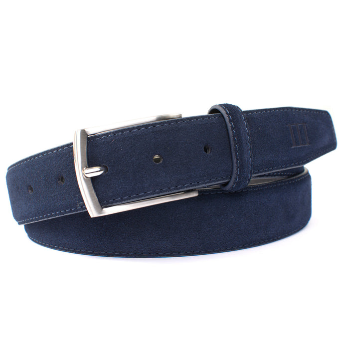 Tresanti Navy Suede Belt at StylishGuy Menswear