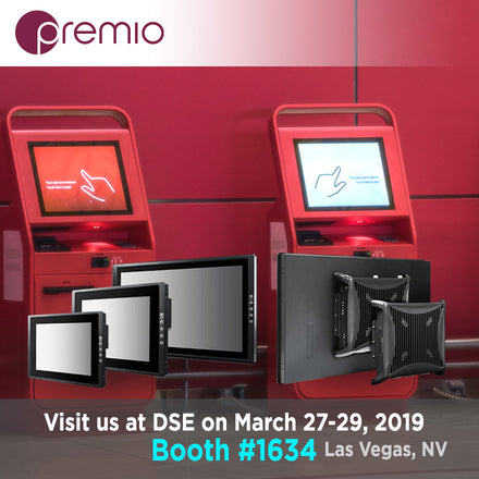 Premio Panel PCs and Industrial Displays at Digital Signage Expo 2019