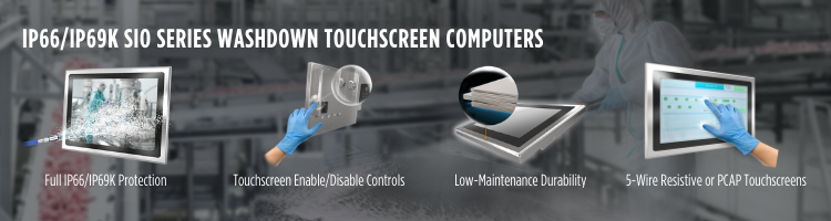IP66-69K  Washdown Touchscreen Computer