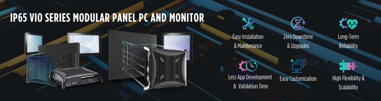 Modular Industrial HMI Panel PCs and Touch Monitor