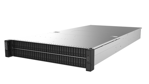FlacheSAN2N108M-D5 2U with 108x hot-swappable Intel® EDSFF (E1.L) NVMe SSD bays