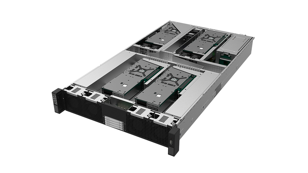 GS206G-UN 2U AMD EPYC Server with 6 GPUs and 6 NVMe 2200W HRP