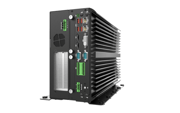 VCO-6122C-2PWR AI Edge Inference Computer With 9th Gen Intel® Core™ Processor, Q370 PCH, 2x PCI/PCIe Expansions, 24V Power For GPU