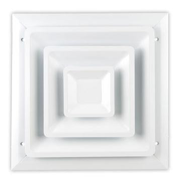100 SERIES STEP DOWN CEILING DIFFUSER - 16 x 16