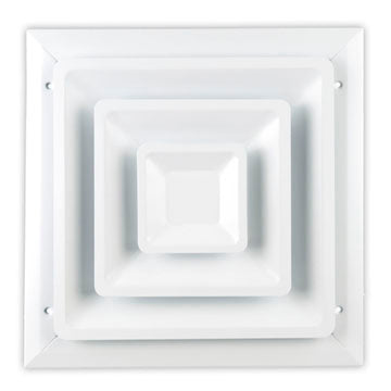 100 SERIES STEP DOWN CEILING DIFFUSER - 06 x 06