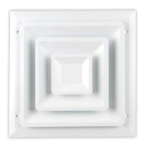 100 SERIES STEP DOWN CEILING DIFFUSER - 12 x 12
