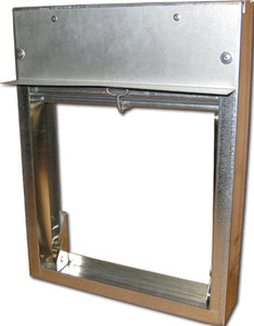 "2"" Vertical Mount Fire Damper 2533-16X8"