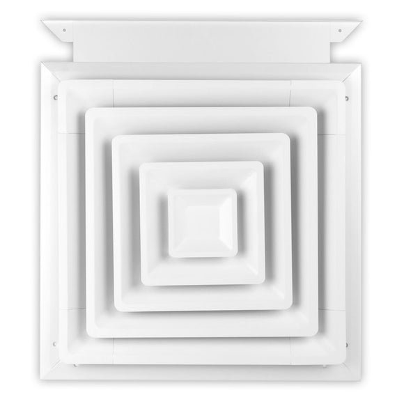 425 Series Step Down 4-Way Swamp Cooler Directional Diffuser With Slide In Damper