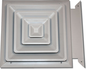 Step Down Diffuser with Slide-in Damper 425-10X10
